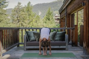 1 Uttanasana/Standing forward bend