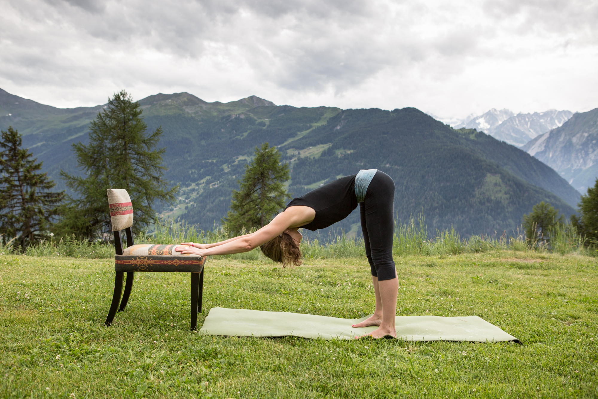3 Downward dog with Chair