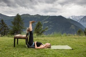 9 Inverted Lake posture (Hands on stomach)
